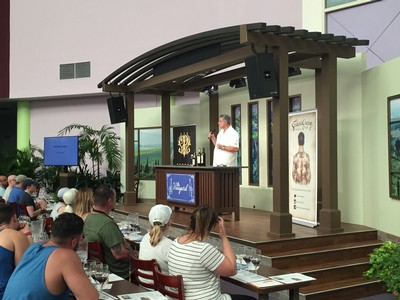 Michael Pozzan presenting at the Epcot Food and Wine Festival