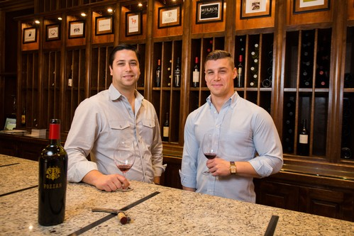 Matthew and Dante Pozzan in the Tasting Room